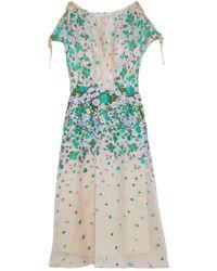 Lela Rose Vestito longuette - Multicolore