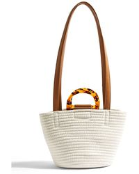 TOPSHOP - Spice Woven Tote Bag - Lyst