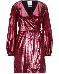 Black Coral Kurzes Kleid - Rot