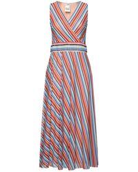 Fuzzi 3/4 Length Dress - Blue