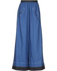 Hache Casual Trousers - Blue