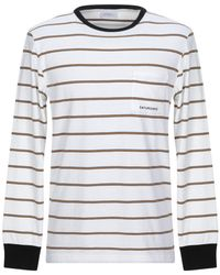 Saturdays NYC James Stripe Long Sleeve Tee   White