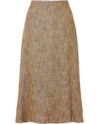 Theory Midi Skirt - Natural