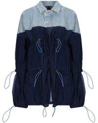 Unravel Project Denim And Nylon Jacket - Blue