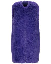 Annarita N. Fausse fourrure - Violet