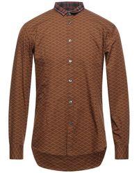 Grey Daniele Alessandrini Shirt - Brown