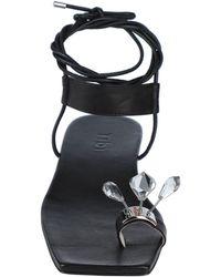 Tibi Toe Strap Sandals - Black