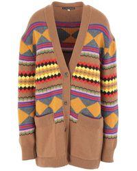 ALEXACHUNG Cardigan - Multicolour