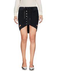 Anthony Vaccarello Mini Skirt - Black
