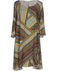 Camicettasnob Short Dress - Brown