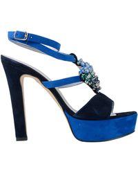 La Via Del Mare Sandales - Bleu