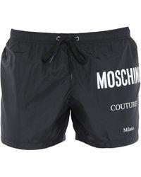 Moschino Short de bain - Noir