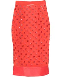 Givenchy 3/4 Length Skirt - Red