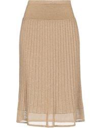 Giorgio Grati 3/4 Length Skirt - Natural