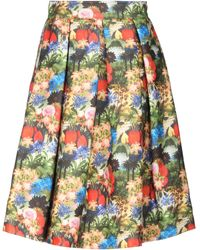Femme By Michele Rossi 3/4 Length Skirt - Green