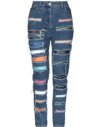 Jeremy Scott Denim Pants - Blue