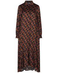 Sfizio Long Dress - Brown