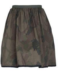 History Repeats Knee Length Skirt - Green