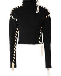 Acne Studios Kerri Whipstitched Wool Turtleneck Jumper - Black