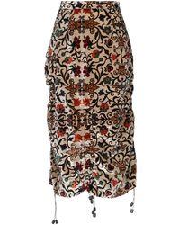 I'm Isola Marras 3/4 Length Skirt - Natural