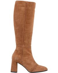 307b34f67d6 Lyst - Alberto Fermani Torina Leather Ankle Bootie in Natural