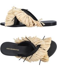Avec Moderation Sandals - Natural