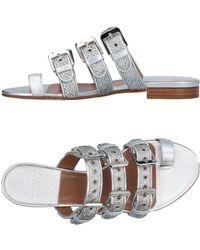 Laurence Dacade Toe Strap Sandals - Metallic