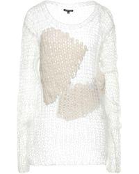 Ann Demeulemeester Pullover - Blanc