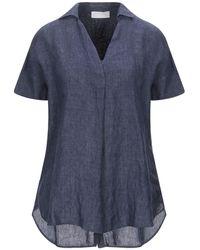 Glanshirt Bluse - Blau