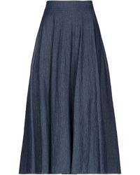 CROCHÈ Denim Skirt - Blue