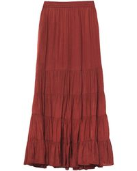 Mes Demoiselles Long Skirt - Red