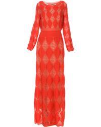 Missoni Langes Kleid - Rot