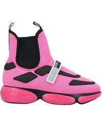 Prada Cloudbust high-top sneakers - Pink