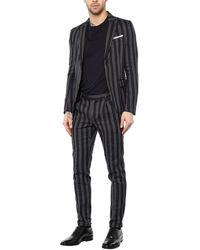 Grey Daniele Alessandrini Suit - Multicolor