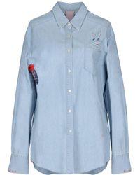 People - (+) People Denim Shirt - Lyst