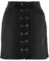 L'Agence Denim Skirt - Black