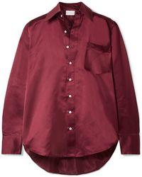 Matthew Adams Dolan Oversized-hemd Aus Seiden-charmeuse - Rot