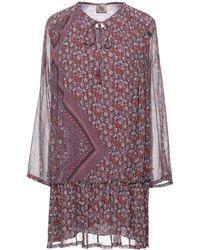 MÊME ROAD Short Dress - Purple