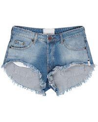 One Teaspoon Shorts jeans - Blu