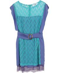 X's Milano Short Dress - Blue