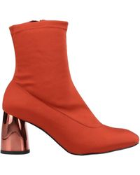 Free People Terra Cotta Spectrum Stretch Ankle Booties - Red