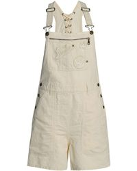 McQ Short Dungarees - White