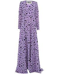 Fausto Puglisi Long Dress - Purple