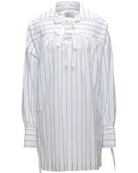 Mark Kenly Domino Tan Kurzes Kleid - Weiß