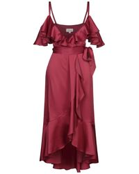 Temperley London Vestito longuette - Rosso
