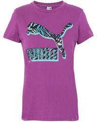 PUMA T-shirts - Lila