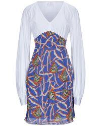 Stella Jean Short Dress - White