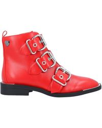 MY TWIN Twinset Ankle Boots - Red