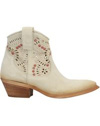 Divine Follie Ankle Boots - Natural