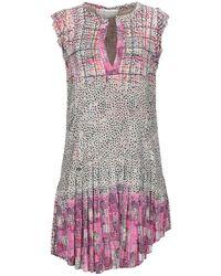 Manila Grace Short Dress - Natural